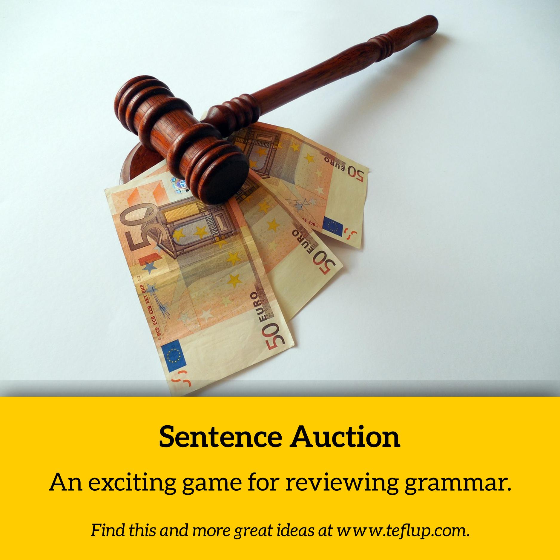 sentence auction