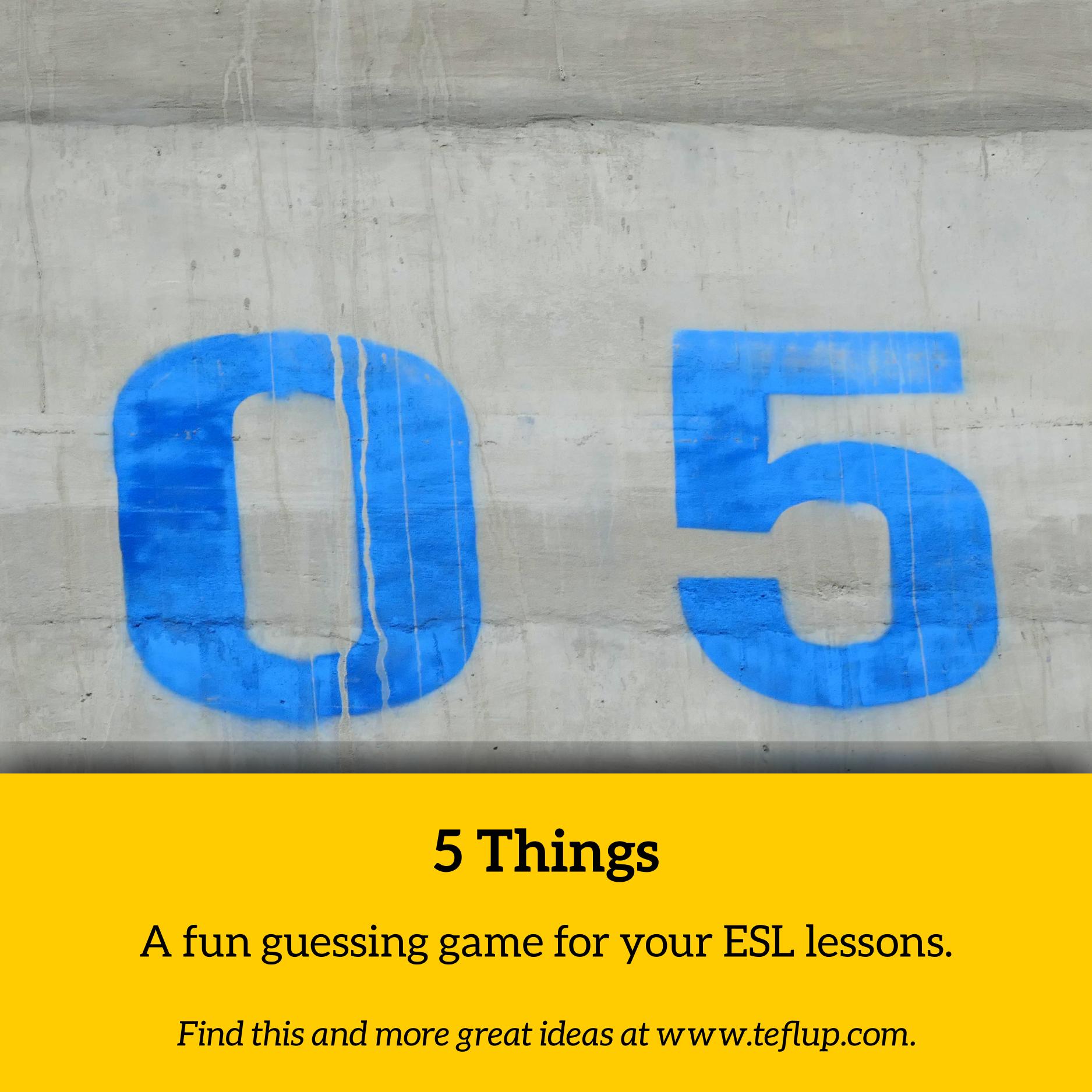 5 things game