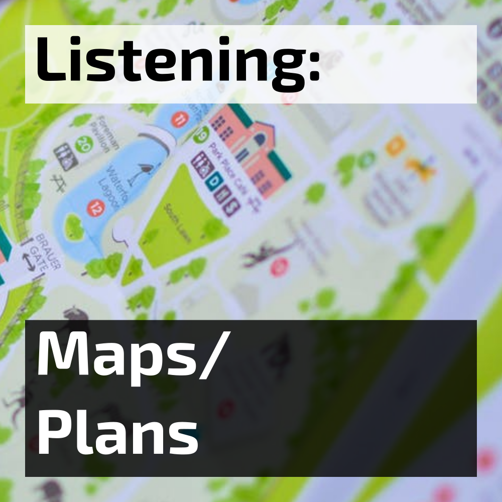 ielts listening maps and plans