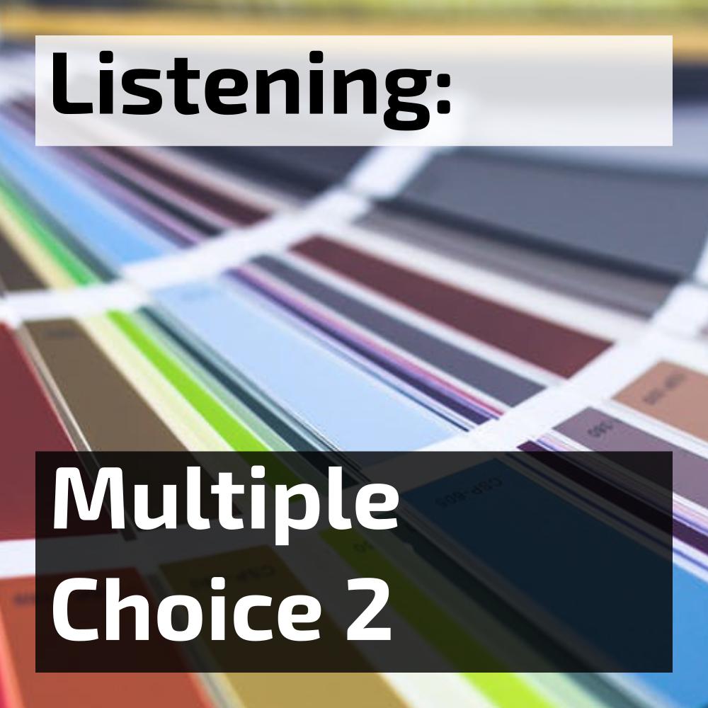 IELTS listening multiple answer multiple choice